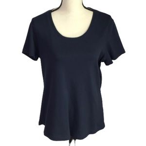 Christopher & Banks Navy Find Your Fit Shaped T XL